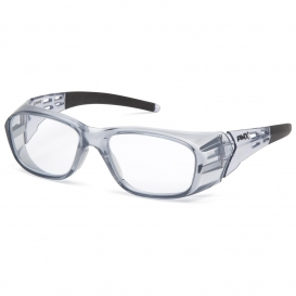 Pyramex SG9810R Emerge Plus Safety Glasses - Translucent Gray Frame - Clear Full Reader Lens