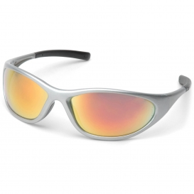 Pyramex SS3345E Zone II Safety Glasses - Silver Frame - Ice Orange Mirror Lens