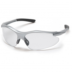 Pyramex SS3710D Fortress Safety Glasses - Silver Frame - Clear Lens