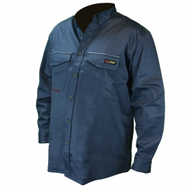 Radians FRS-001 VolCore Long Sleeve Button Down FR Shirt - Navy