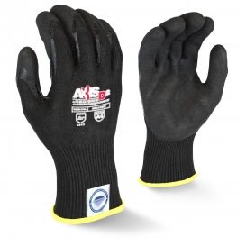 Radians RWGD108 Axis D2 Cut Level A4 Work Gloves - Double Dipped Nitrile Palm