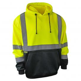 Radians SJ02B-3PGS Type R Class 3 Color Blocked Hooded Pullover Sweatshirt - Yellow/Black