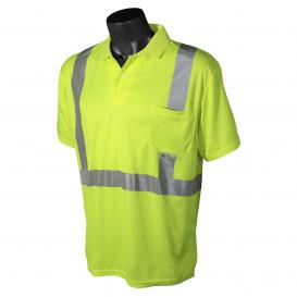 Radians ST12-2PGS Type R Class 2 Mesh Safety Polo - Yellow/Lime