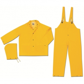 MCR Safety 2303 Classic Series Industry Grade 3 Piece Rain Suit - Yellow