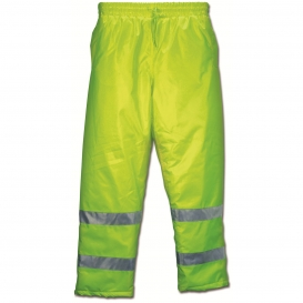 River City BMRCL3LP Luminator Class E Insulated Safety Pants - Yellow/Lime