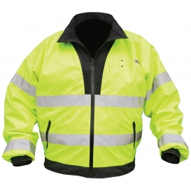 River City BRCL3L Luminator Type R Class 3 Reversible Bomber Jacket - Yellow/Lime