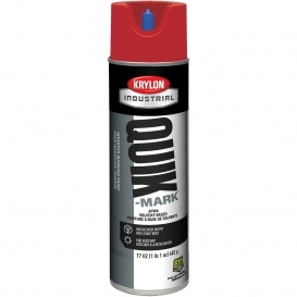 Krylon A03611007 Quik-Mark Solvent Based Inverted Marking Paint - APWA Red - 20 oz Can (Net Weight 17 oz)