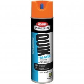 Krylon A03700004 Quik-Mark Water Based Inverted Marking Paint - Fluorescent Orange - 20 oz Can (Net Weight 17 oz)