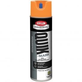 Krylon A03731007 Quik-Mark Solvent Based Inverted Marking Paint - APWA Bright Orange - 20 oz Can (Net Weight 17 oz)