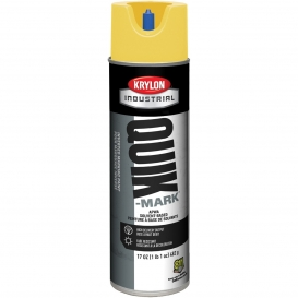 Krylon A03821007 Quik-Mark Solvent Based Inverted Marking Paint - APWA Hi-Vis Yellow - 20 oz Can (Net Weight 17 oz)