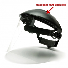 Pyramex S1010 Polyethylene Face Shield - Clear (Headgear Sold Separately)