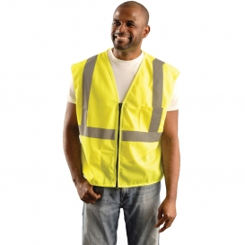 OK-1 S1L Type R Class 2 Classic Mesh Standard Vest - Yellow/Lime