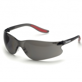 Elvex SG-14G Xenon Safety Glasses - Black Temples - Grey Lens