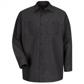 Red Kap SP14 Men\'s Industrial Work Shirt - Long Sleeve - Black