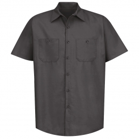 Red Kap SP24 Men\'s Industrial Work Shirt - Short Sleeve - Charcoal