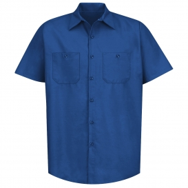 Red Kap SP24 Men\'s Industrial Work Shirt - Short Sleeve - Royal Blue
