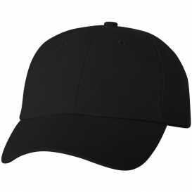 Valucap VC300A Adult Bio-Washed Classic Dad's Cap - Black