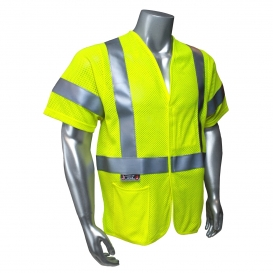 Radians SV97-3VGMFR Premium Mesh Modacrylic FR Type R Class 3 Safety Vest - Yellow/Lime