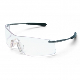 Crews T4110AF Rubicon Safety Glasses - Silver Metal Temples - Clear Anti-Fog Lens