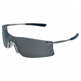 MCR Safety T4112AF Rubicon T4 Safety Glasses - Silver Metal Temples - Gray Anti-Fog Lens