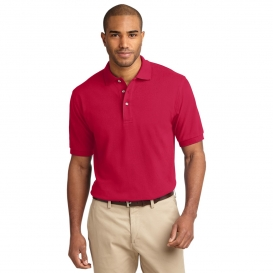 Port Authority TLK420 Tall Pique Knit Polo - Red