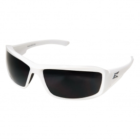 Edge TXB246 Brazeau Designer Safety Glasses - White Frame - Smoke Polarized Lens