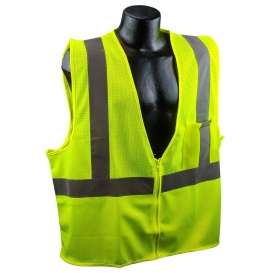 Full Source US2LM19-SP Class 2 Mesh Safety Vest with Solid Pocket - Yellow/Lime