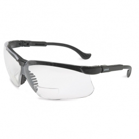 Uvex Genesis Reading Safety Glasses - Black Frame - Clear Lens