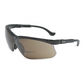 Uvex Genesis Reading Safety Glasses - Black Frame - Gray Lens