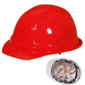 OccuNomix V100 Vulcan Cap Style Hard Hat - 6-Point Pinlock Suspension - Red