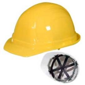 OccuNomix V100 Vulcan Cap Style Hard Hat - 6-Point Pinlock Suspension - Yellow