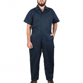 Walls 1216 Twill Non-Insulated Short Sleeve Coveralls - Navy