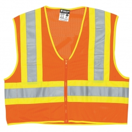 River City WCCL2OFR Type R Class 2 Limited Flammability Two-Tone Dielectric Safety Vest - Orange