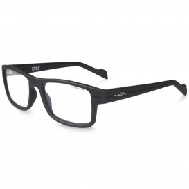 Wiley X WSEPC01 WX Epic Safety Glasses - Black Frame - Clear Lens