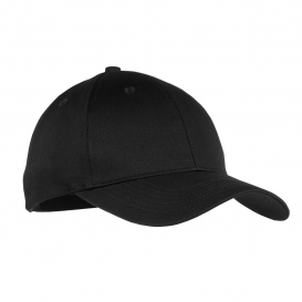 Port & Company YCP80 Youth Six-Panel Twill Cap - Black