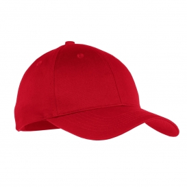 Port & Company YCP80 Youth Six-Panel Twill Cap - Red