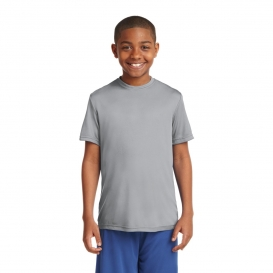 Sport-Tek YST350 Youth PosiCharge Competitor Tee - Silver
