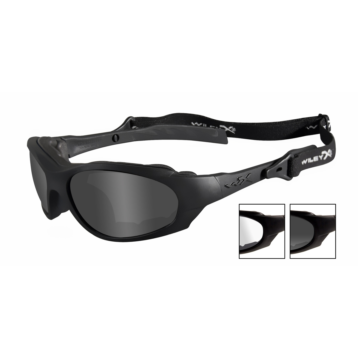 cbcd87af2a9 Wiley X XL-1 Advanced Safety Glasses - Matte Black Frame - Grey   Clear  Lenses