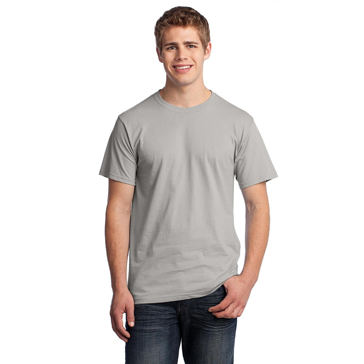 6cd4baae Fruit of the Loom 3930 Heavy Cotton HD T-Shirt - Silver | FullSource.com