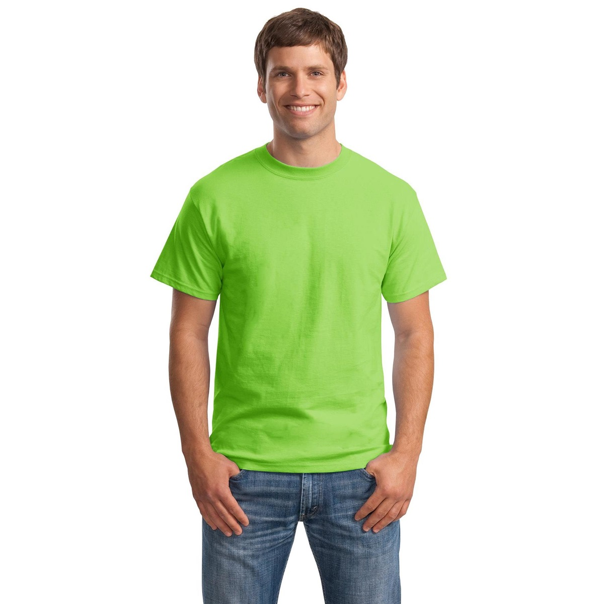 Hanes 5180 Beefy-T Cotton T-Shirt - Lime