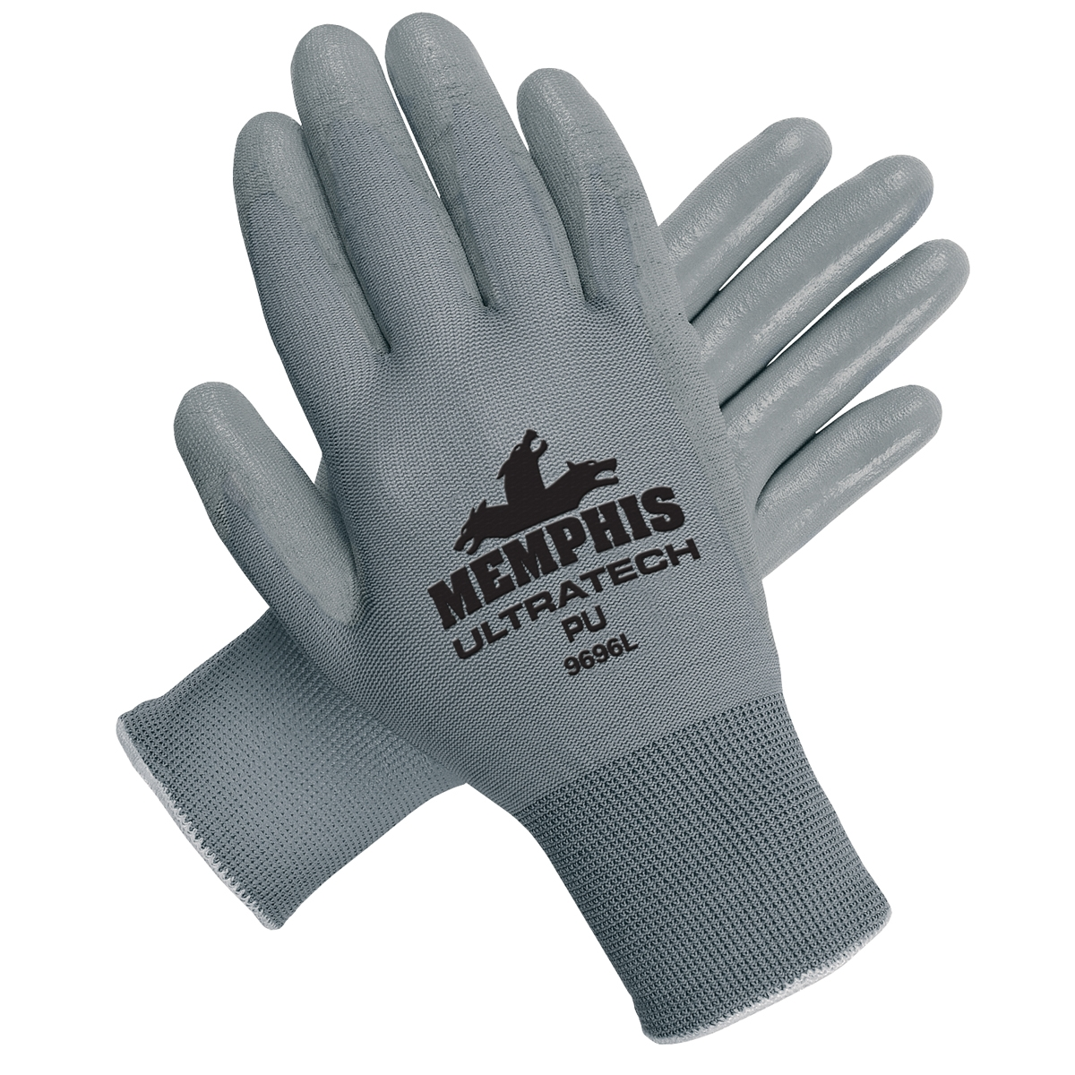 c1d4b2eca0 Memphis 9696 UltraTech PU Gloves - 13 Gauge Gray Nylon - Gray ...