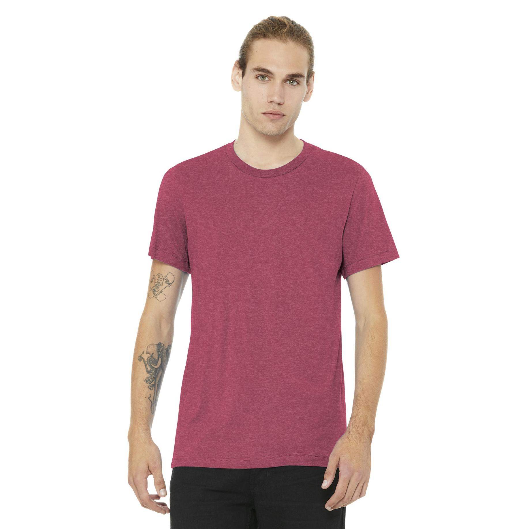 9abb52d46a511 Bella + Canvas BC3001 Unisex Jersey Short Sleeve Tee - Heather Raspberry