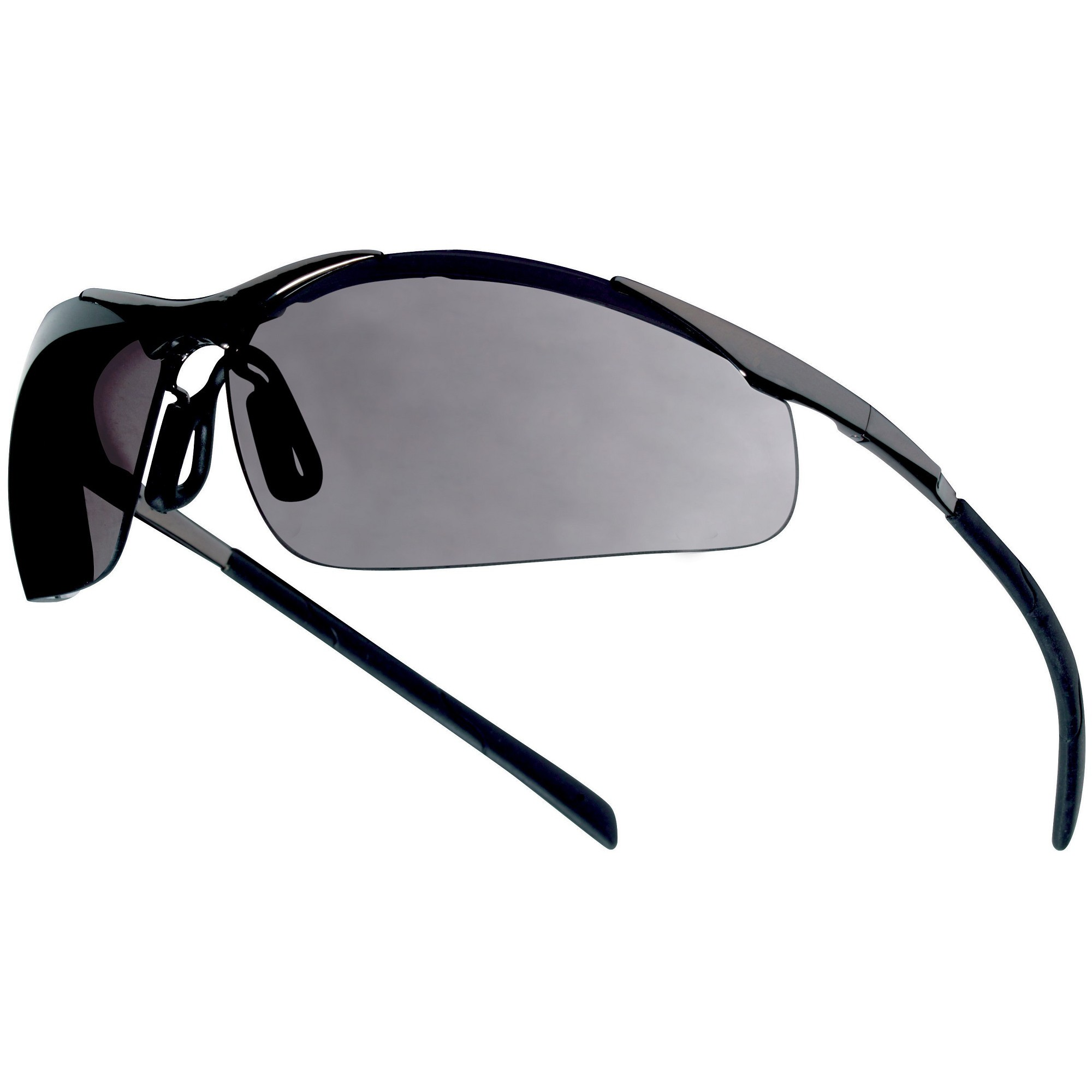 ee1ef25ae372 Bolle 40050 Contour Metal Safety Glasses - Silver Metal Temples - Smoke  Anti-fog Lens