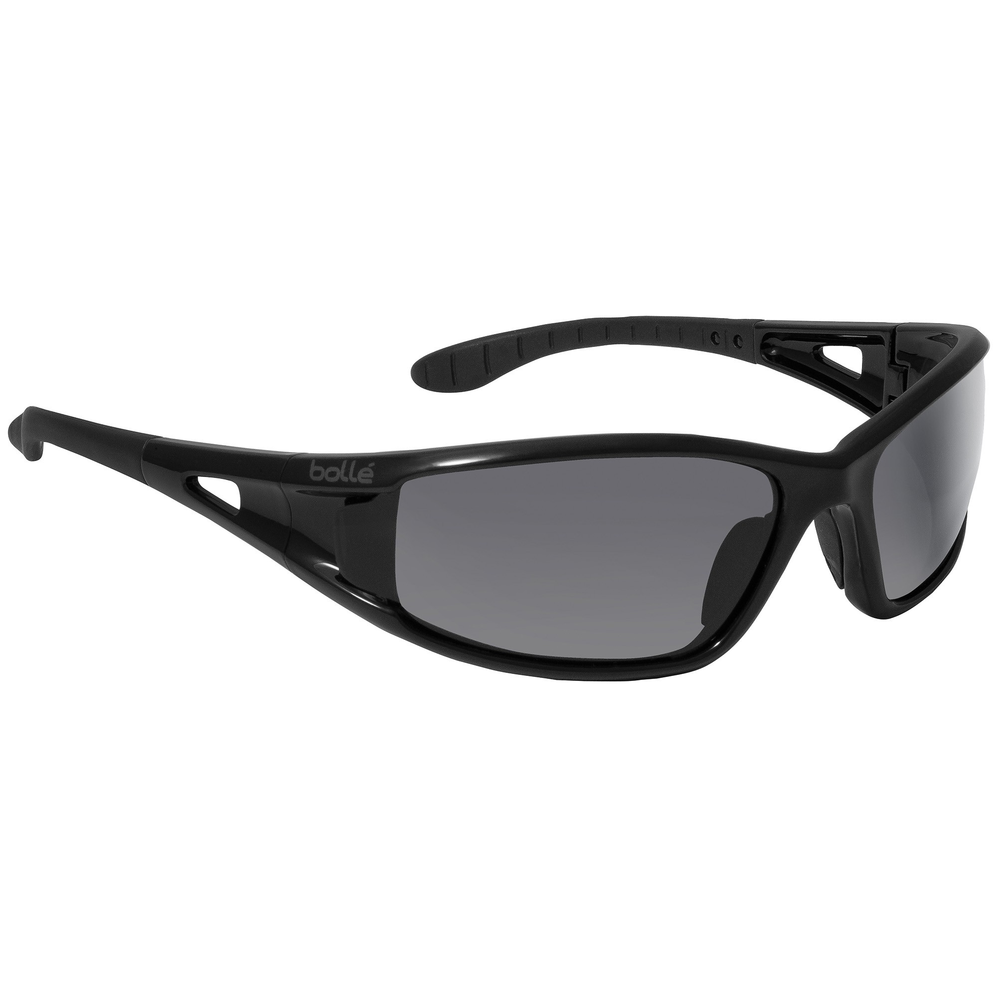 9b12994589 Bolle 40052 Lowrider Safety Glasses - Black Temples - Smoke Anti-Fog Lens