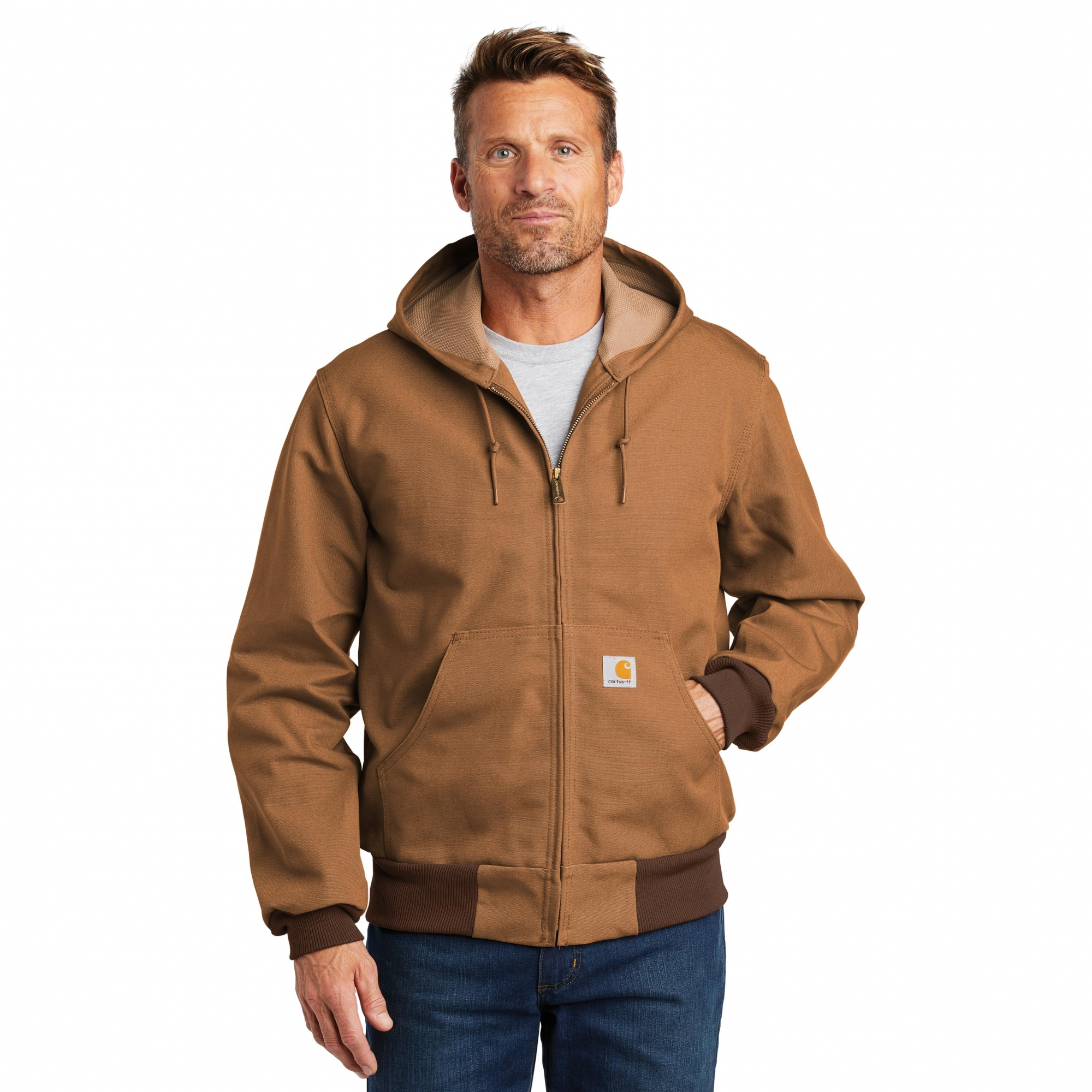 f61e038a1315c Carhartt CTJ131 Thermal-Lined Duck Active Jacket - Carhartt Brown ...