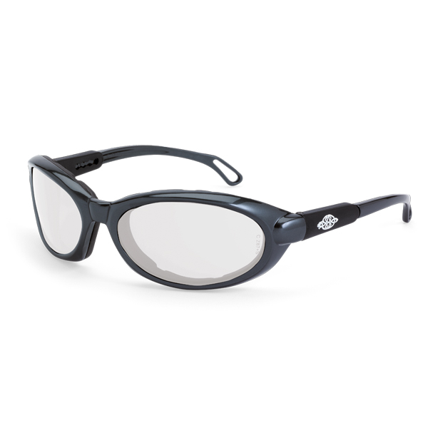 5b495094d696c CrossFire Raptor Safety Glasses - Gray Foam Lined Frame - Clear Anti-Fog  Lens
