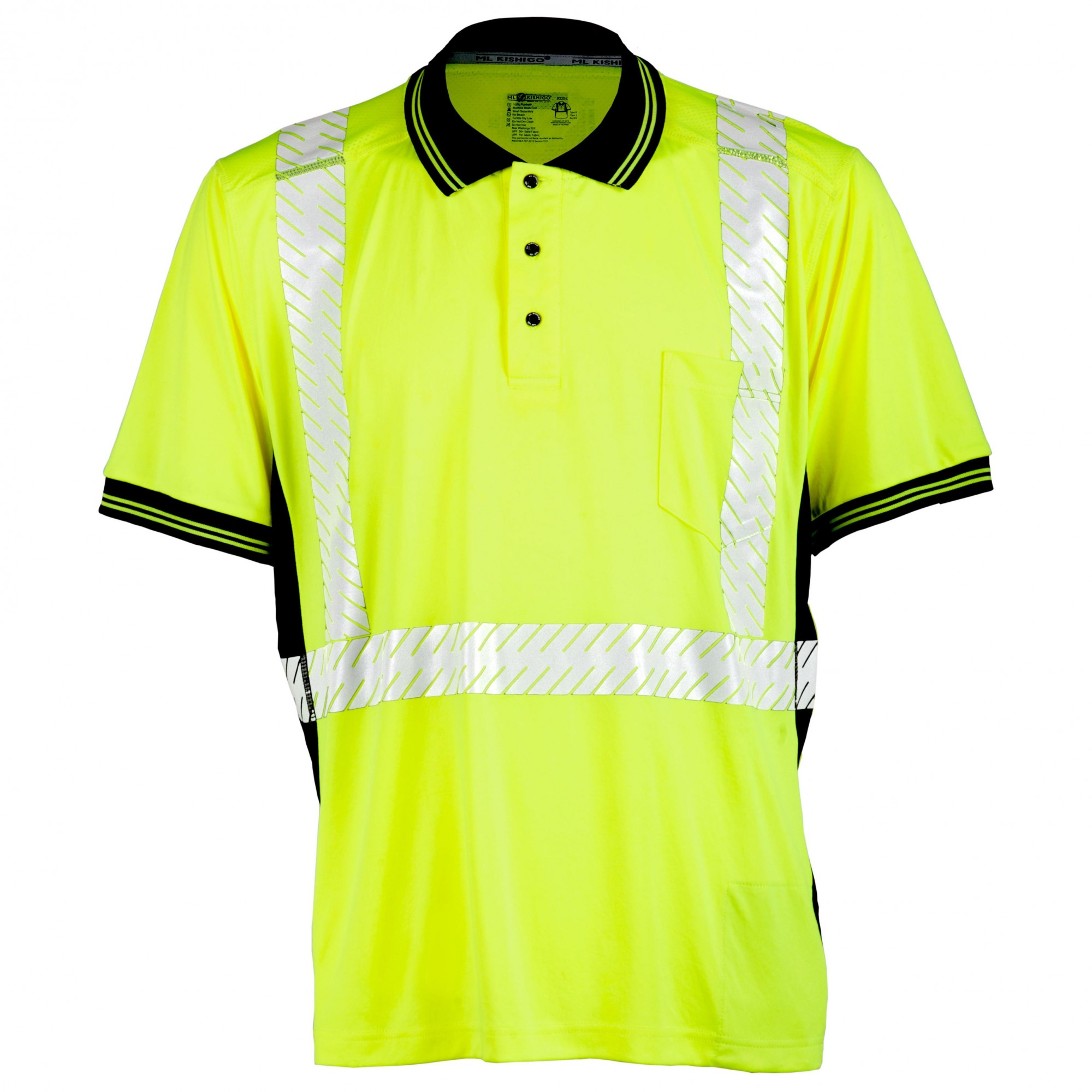 Ml Kishigo 9220 Black Series High Performance Polo Shirt Yellow