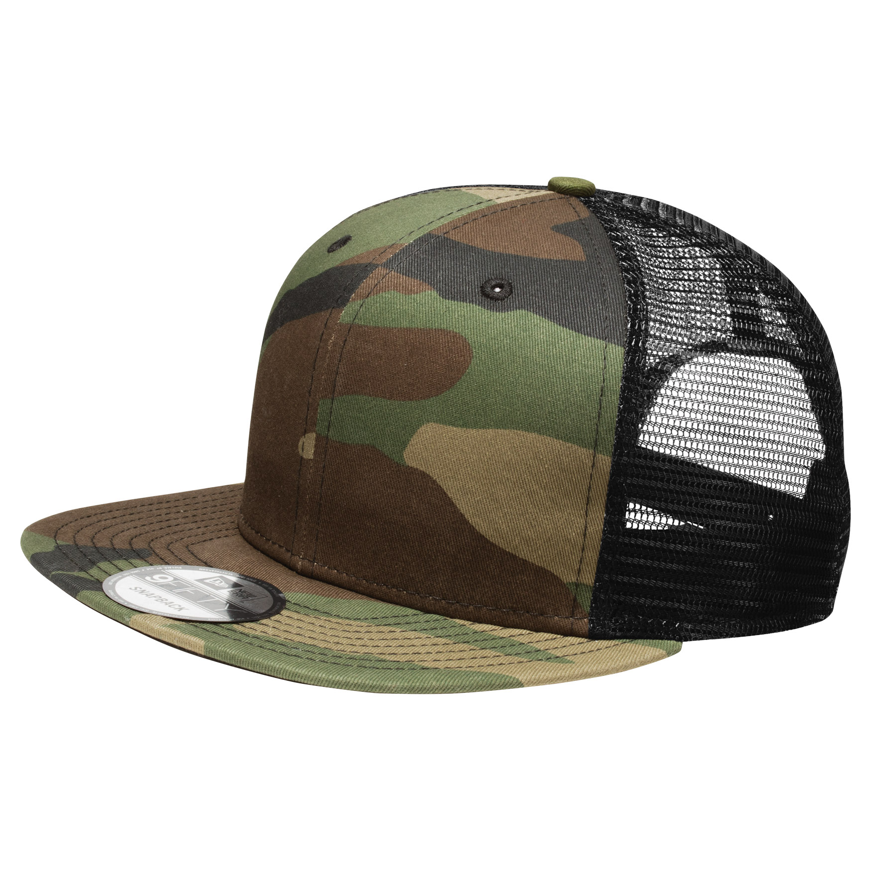 New Era NE403 Original Fit Snapback Trucker Cap - Camo Black ... 05ccc2ff341