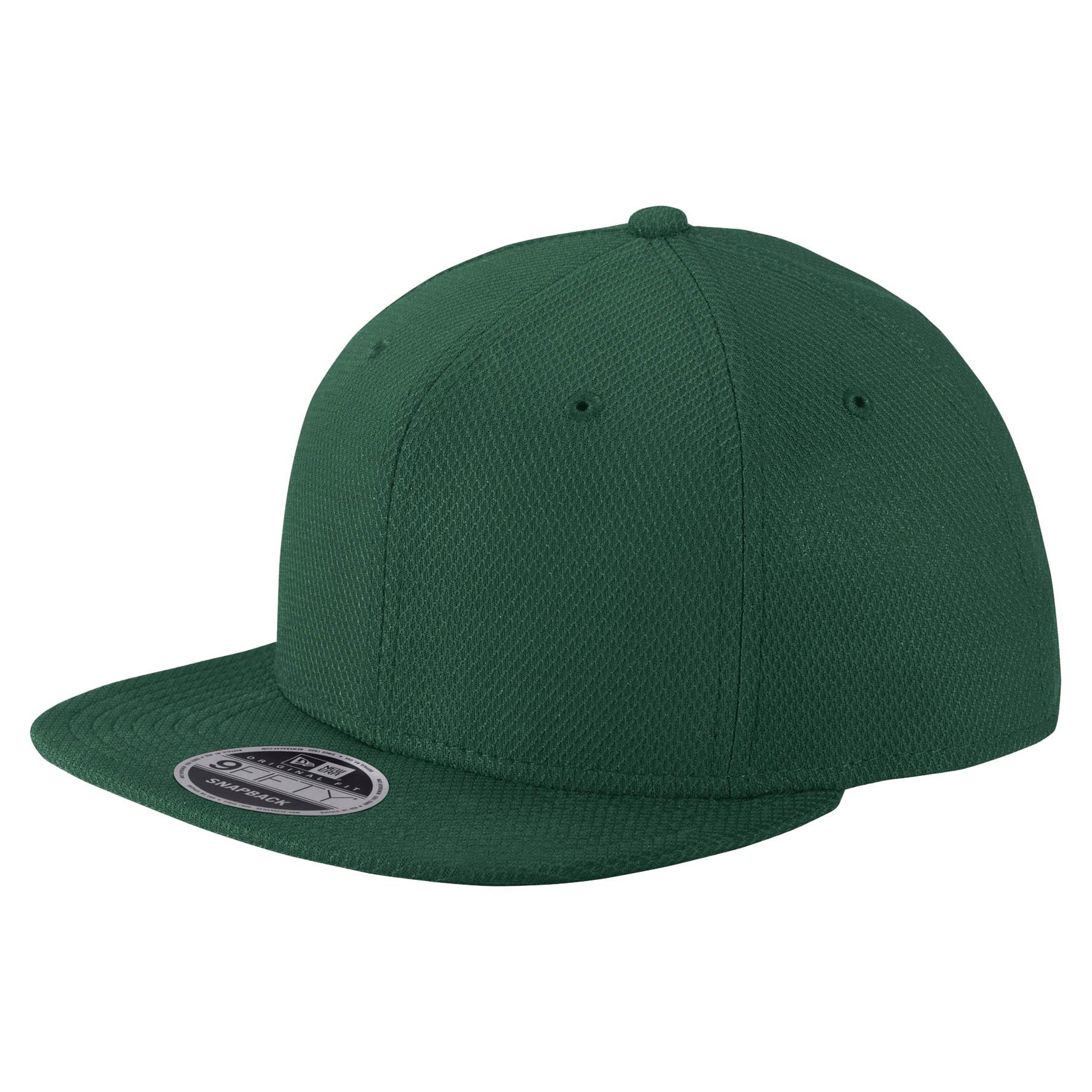 New Era NE404 Original Fit Diamond Era Flat Bill Snapback Cap - Dark Green d72f992d2170