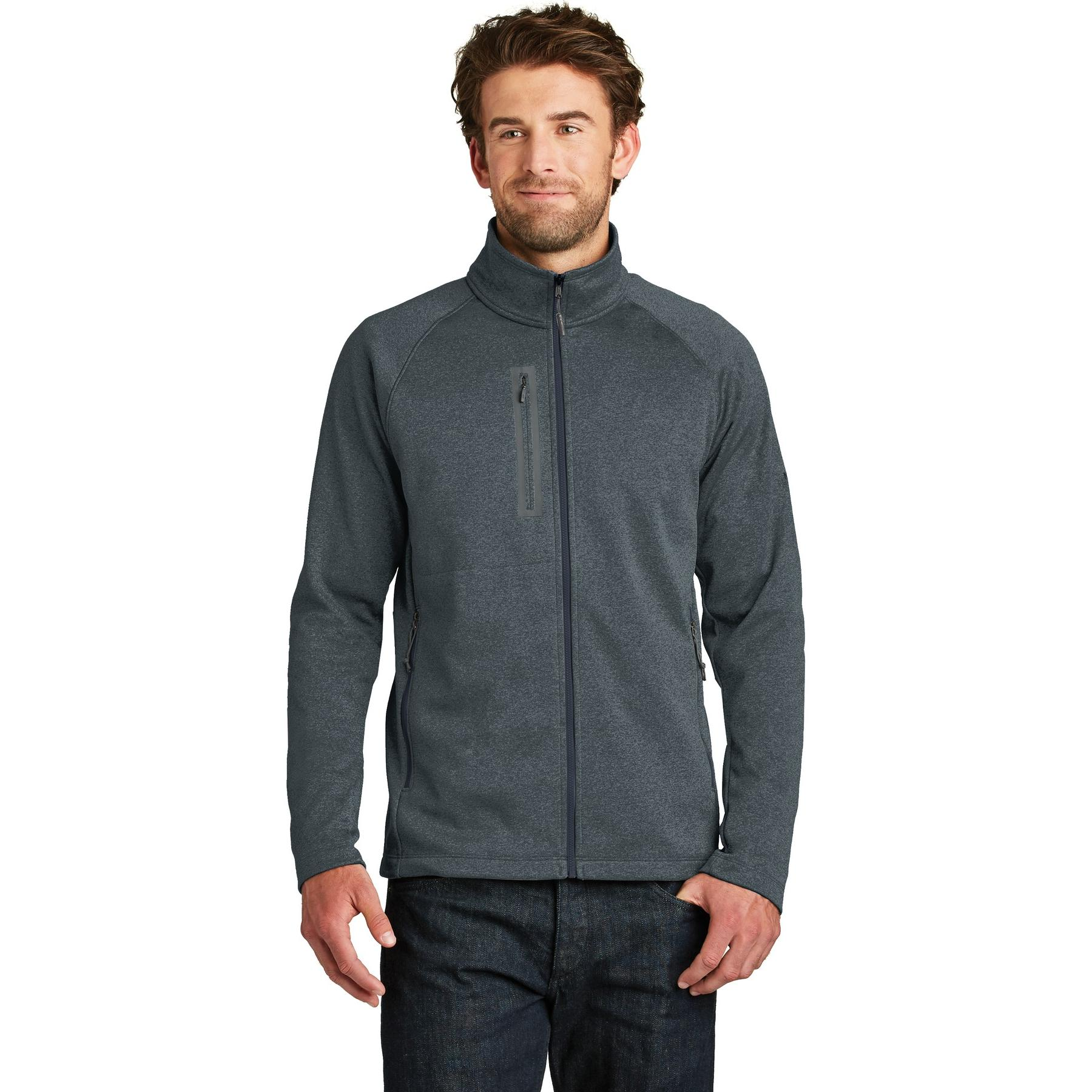 a48c352430ad The North Face NF0A3LH9 Canyon Flats Fleece Jacket - Urban Navy Heather.  NF-NF0A3LH9-Urban-Navy-Heather